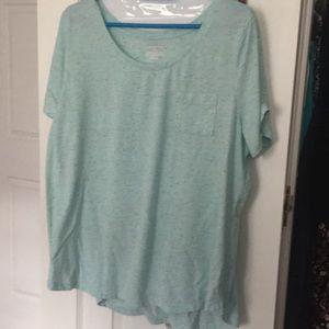 Blue w/ Multicolor Paint Drop Accent T- Shirt